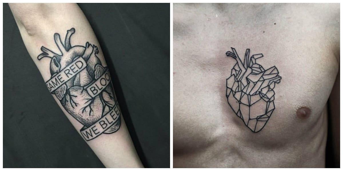 Tatuajes de corazones- es un simbolo de amor y vida para los dos generos