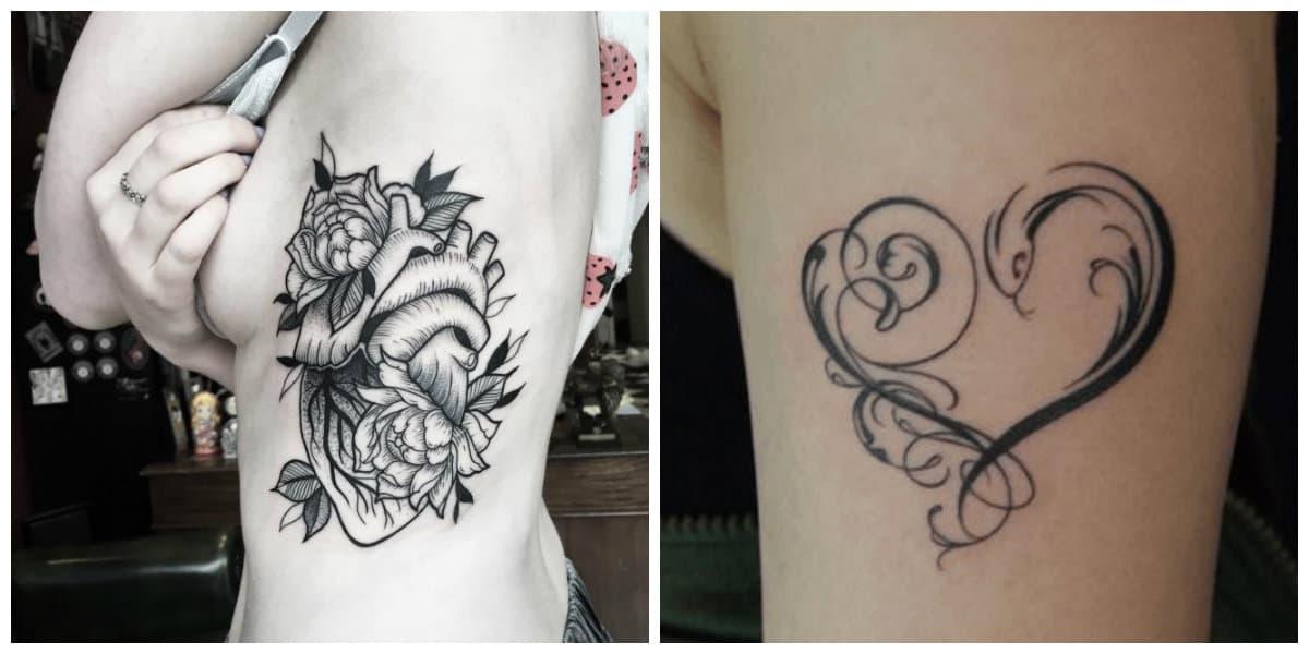 Tatuajes de corazones- imagenes e ideas muy bonitas para todos