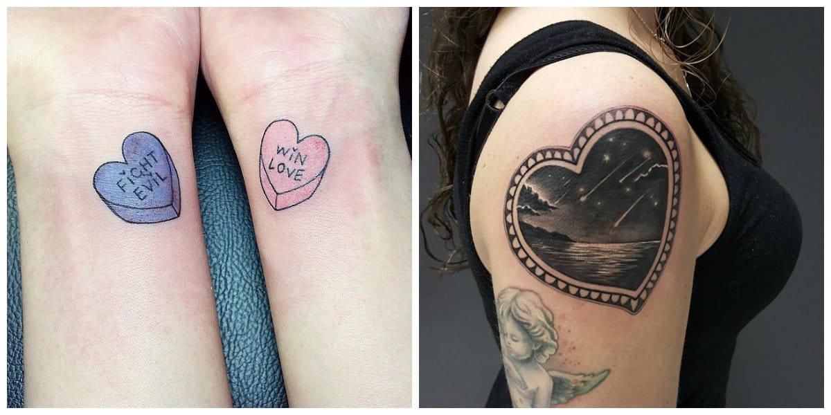 Tatuajes de corazones- es un modelo de tatuaje muy popular entre las mujeres