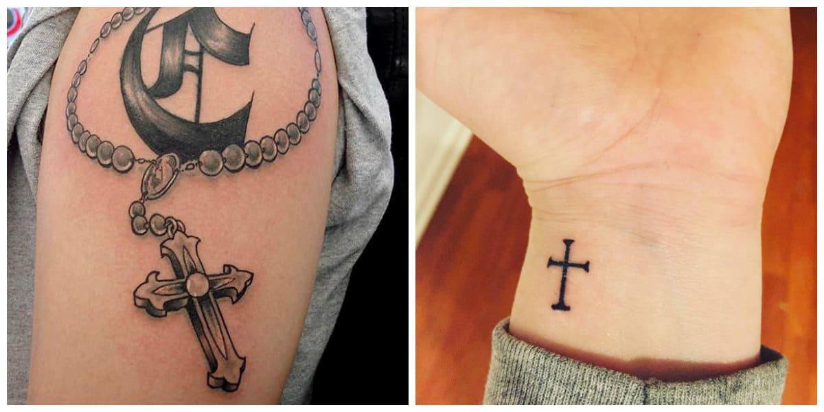 Tatuajes de cruzados- tendencias tradincionales con macas modernas