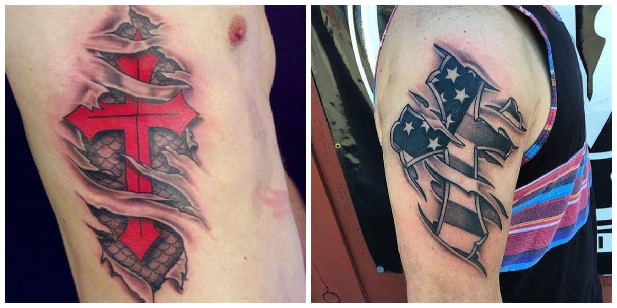 Tatuajes de cruzados- hay varios colores que se pueden aplicar sobre los tatuajes