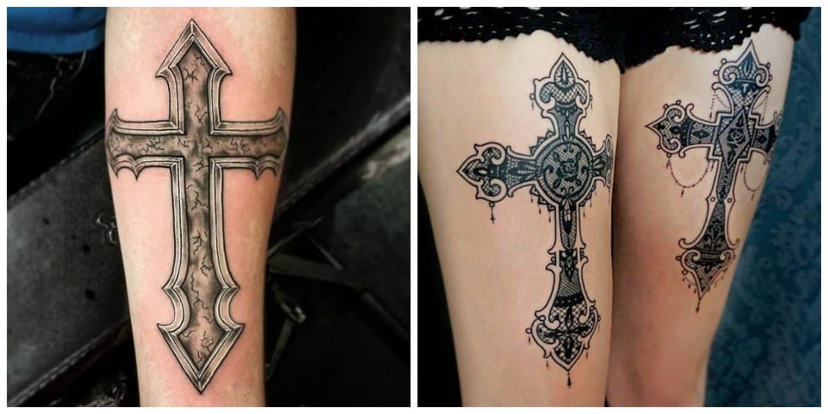 Tatuajes de cruzados- ideas e imagenes modernas para todos religiosos
