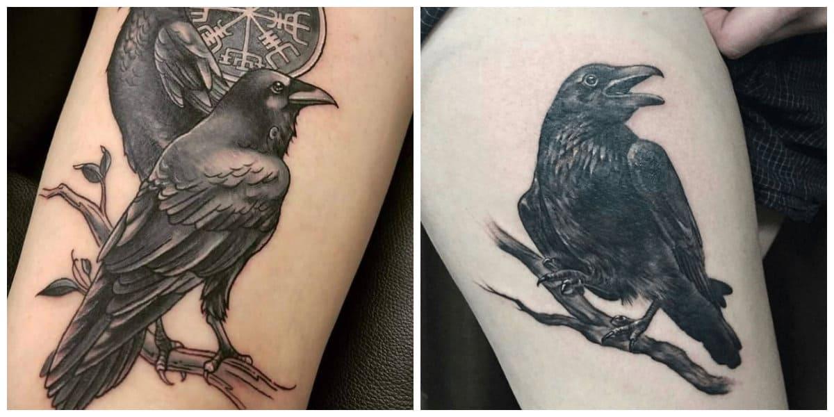 Tatuajes de cuervos- es un simbolo de muerte en la cultura