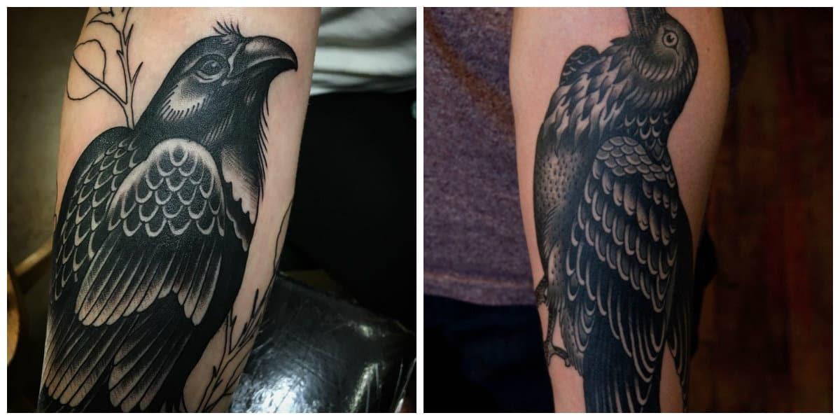 Tatuajes de cuervos- tiene simboligia diferente en varias culturas