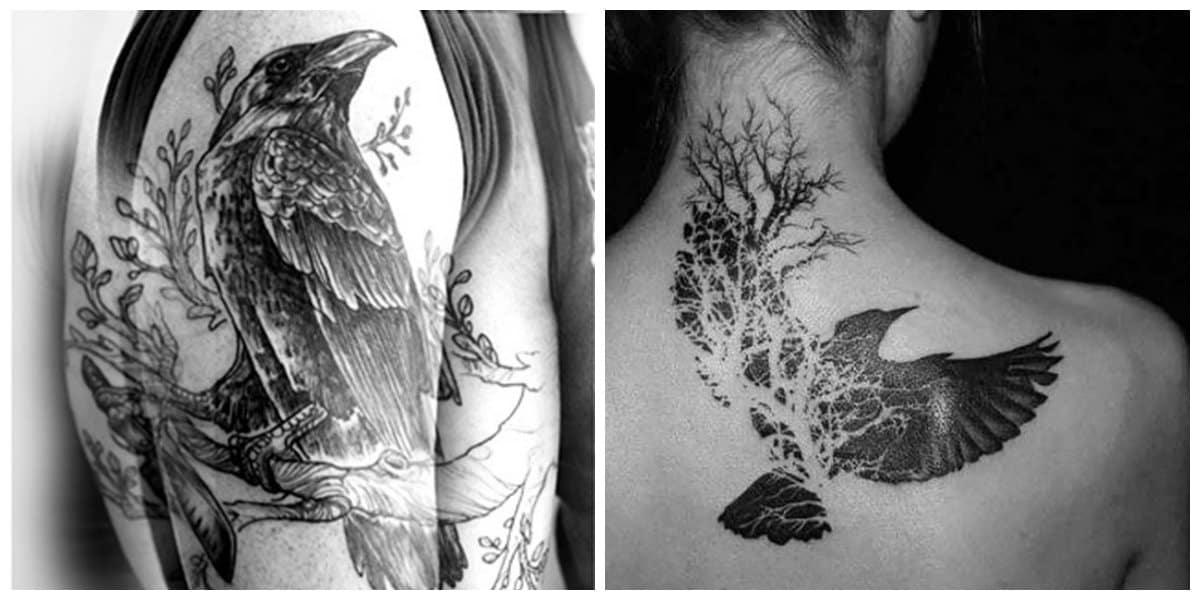 Tatuajes de cuervos- es un simbolo de cristianismo que asigna muerte