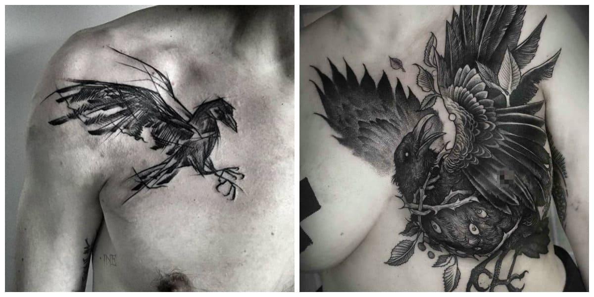 Tatuajes de cuervos- las mujeres tambien usan este pajaro como simbolo fuerte