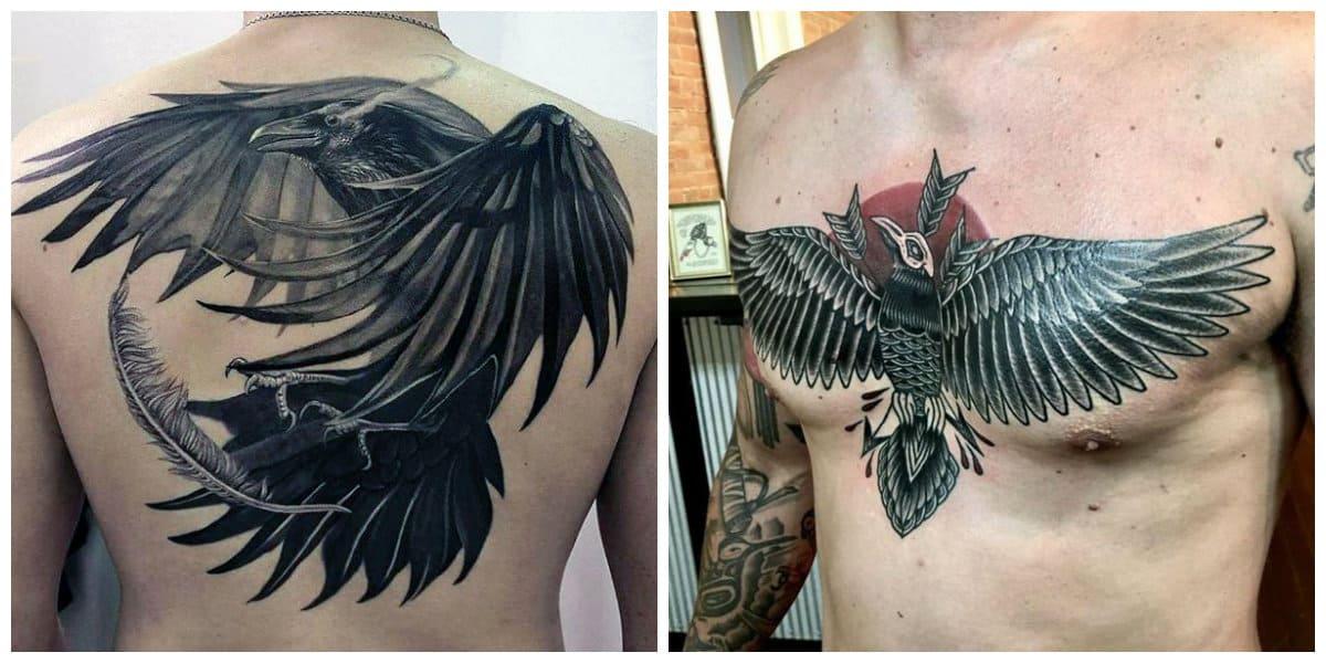 Tatuajes de cuervos- se puede colocar en diferentes partes del cuerpo