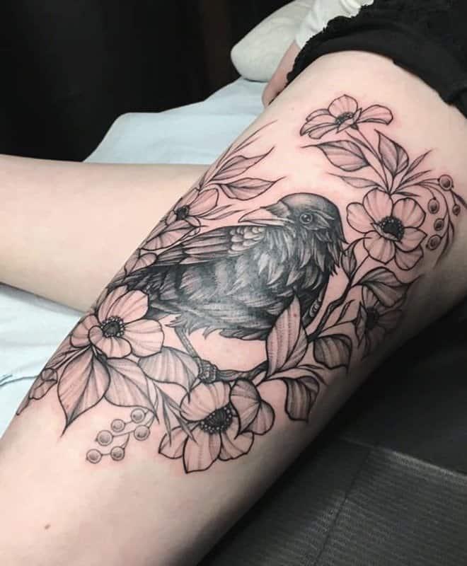 Tatuajes-de-cuervos-Tedencias-modernas-y-nuevas-para-los-amantes-de-este-pájaro