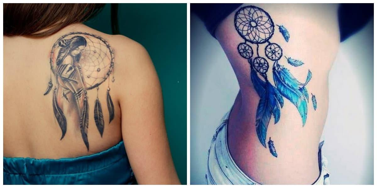 Tatuajes de dreamcatcher- ideas interesantes para las mujeres que quieren arte corporal