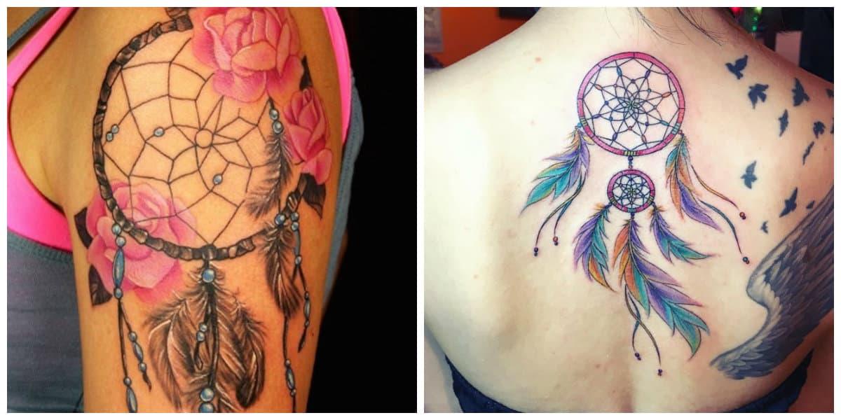 Tatuajes de dreamcatcher- es un simbolo que mata a los poderes malos