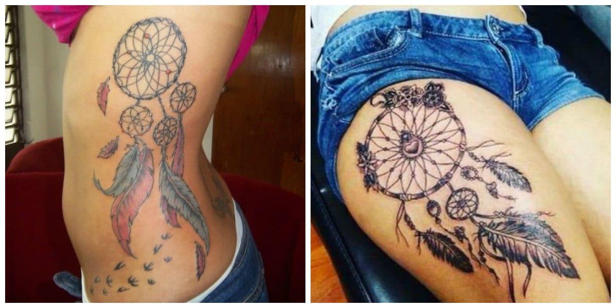 Tatuajes de dreamcatcher- va a proteger a las mujeres desde espiritus malos