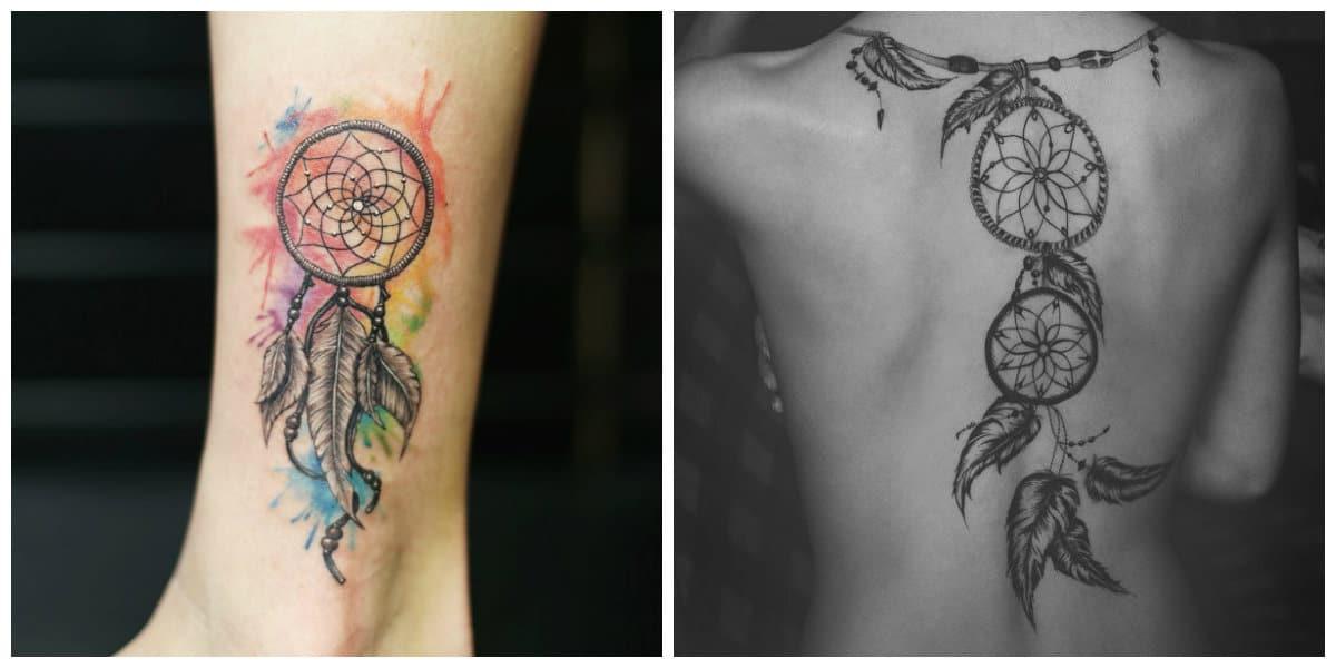 Tatuajes de dreamcatcher- algunas de las tendencias modernas desde los corrientes de moda