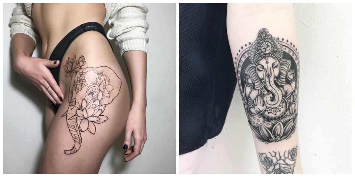 Tatuajes de elefantes- todas las tendencias principales de moda