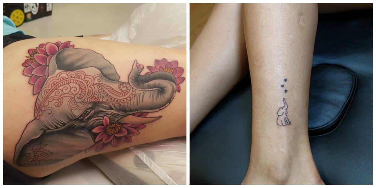 Tatuajes de elefantes- es un simbolo de budismo, mitologia e hinduismo