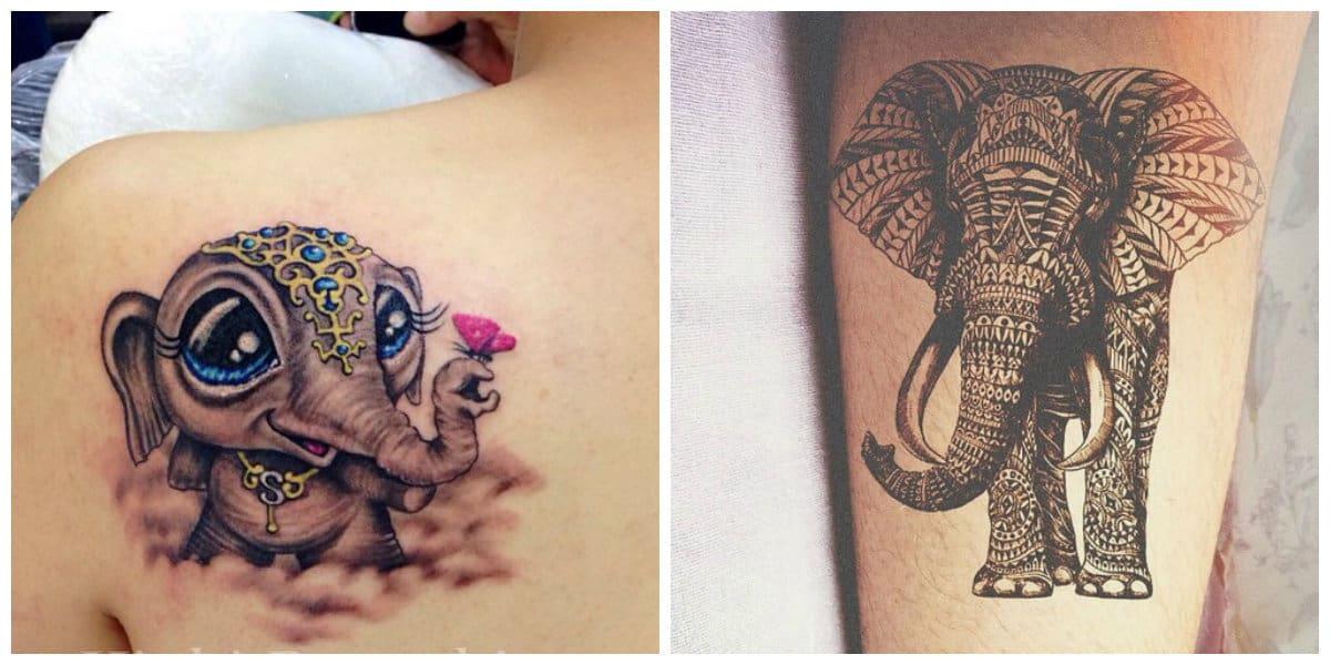 Tatuajes de elefantes- ideas creativas principalemnte para las chicas