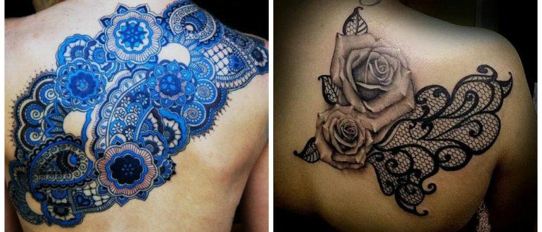 Tatuajes de encaje- diferentes colores que se usan en los tatuajes femeninos