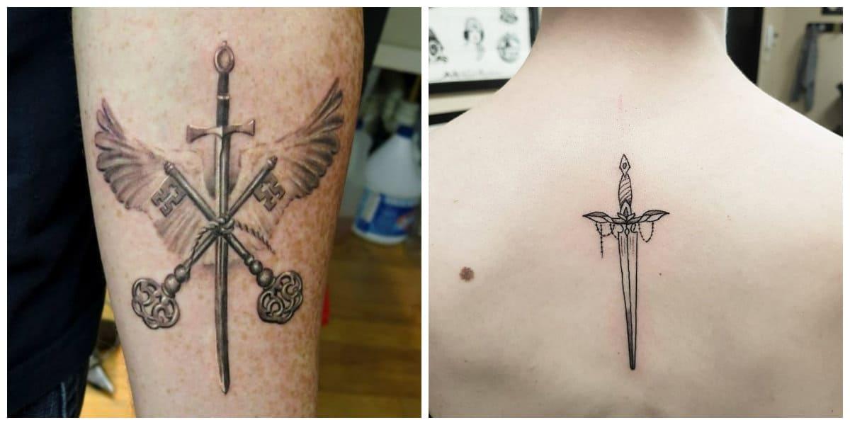 Tatuajes de espadas- nuevas ideas y tendencias modernas