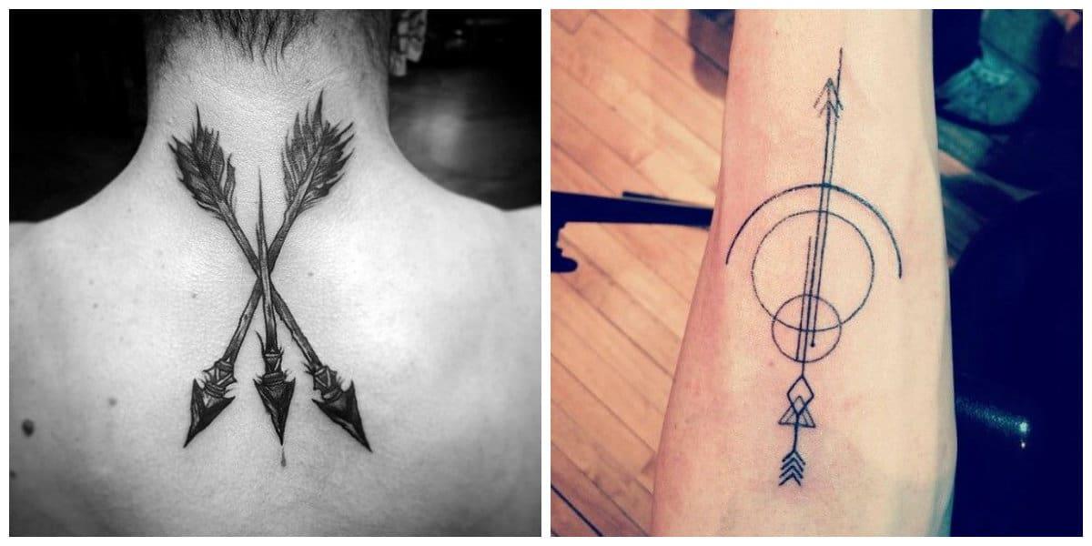 Tatuajes de flechas en el brazo- es un signo masculino de moda