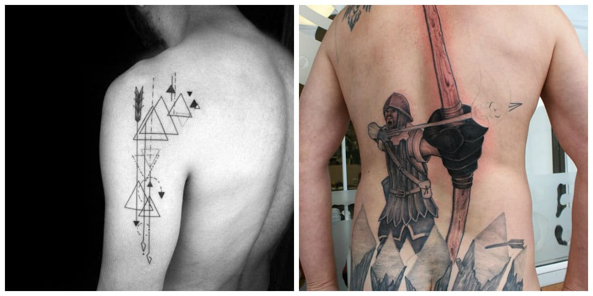 Tatuajes de flechas en el brazo- asigna a los guerreros antiguos