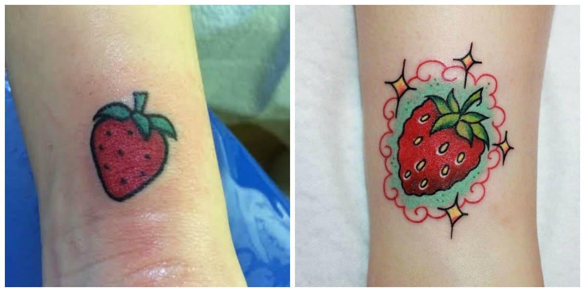 Tatuajes de fresas- tendencias de los tatuajes de bayas modernas