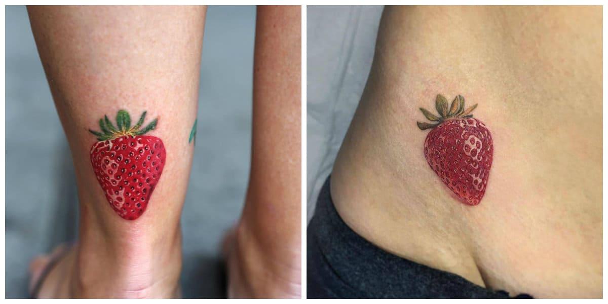 Tatuajes de fresas- son un simbolo de sexualidad femenina