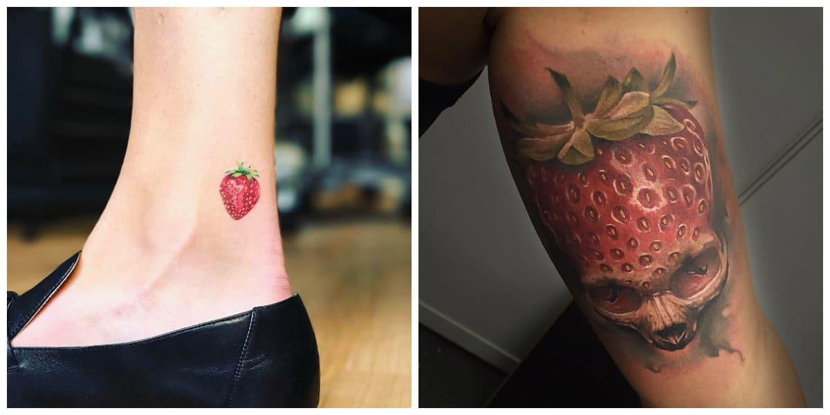 Tatuajes de fresas- ideas creativas de imagenes de fresas en tatuajes