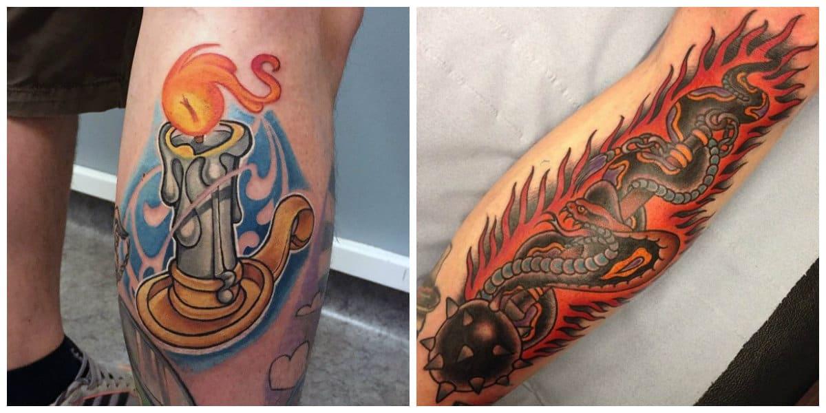 Tatuajes de fuego- imagenes modernas acompanadas por la llama o fuego