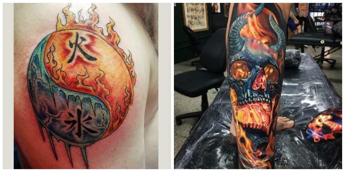 Tatuajes de fuego- los hombres suelen ponerlo sobre el brazo