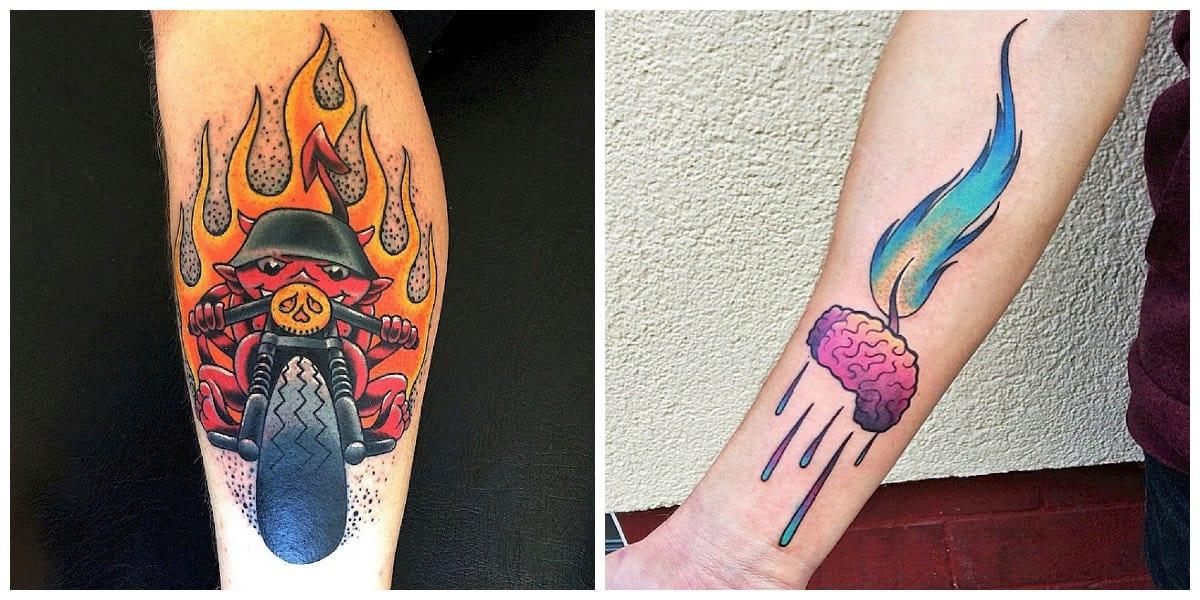 Tatuajes de fuego- imagenes creativas para los hombres y las mujeres, chicas