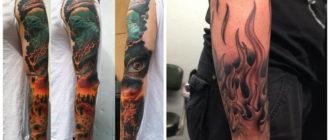 Tatuajes de fuego- para los hombres puede significar pasion y sexualidad