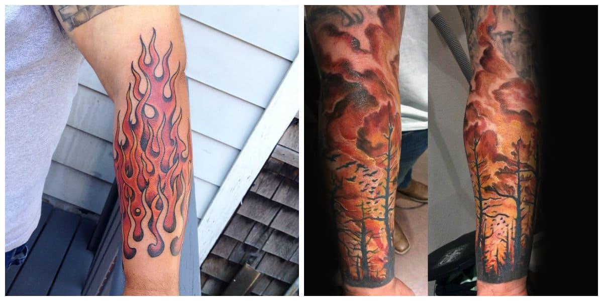 Tatuajes de fuego- ideas principales en representaciones modernas