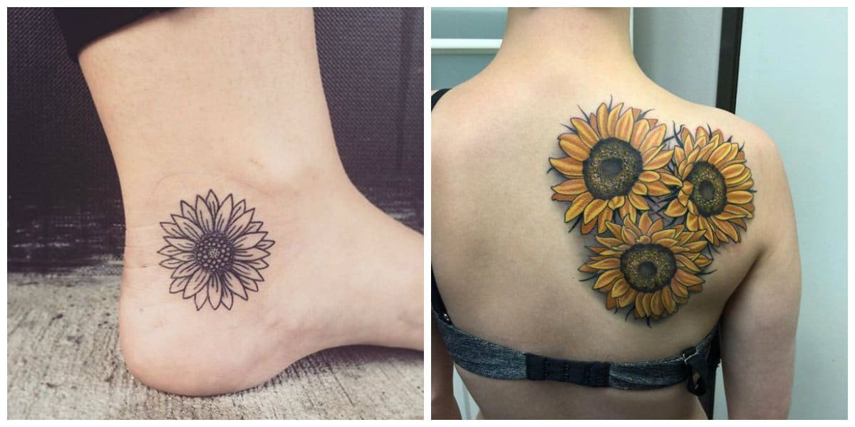 Tatuajes de girasoles- tendencias y corrientes principales de moda