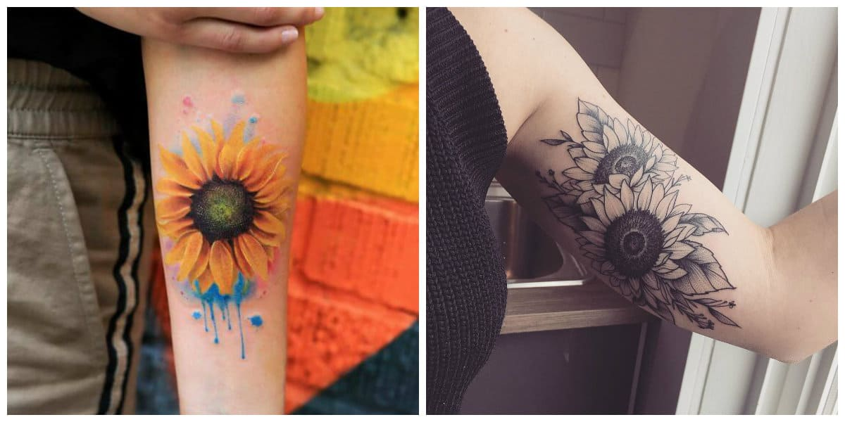 Tatuajes de girasoles- ideas e imagenes interesantes y muy modernas