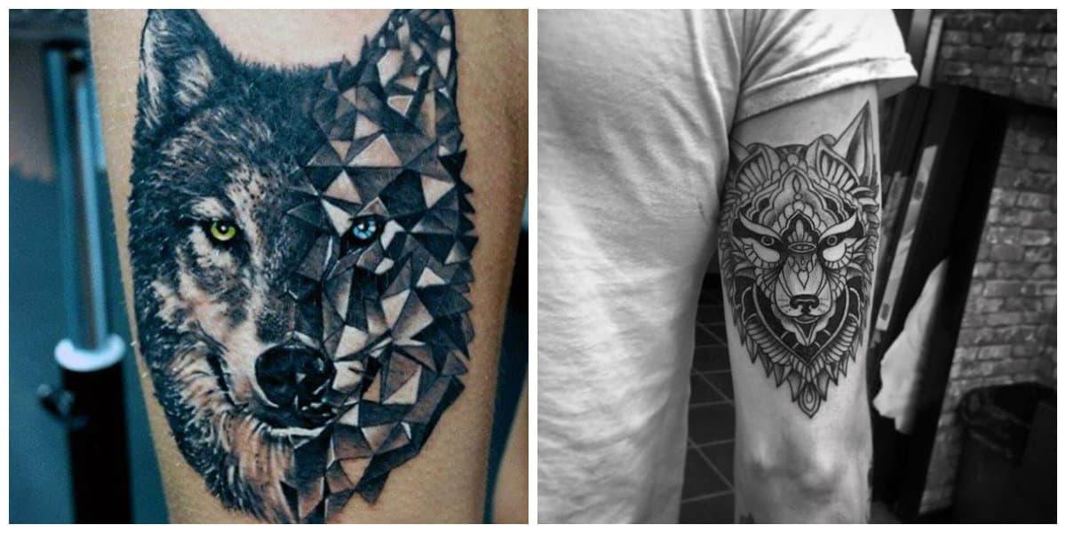 Tatuajes de lobos- todas las tendencias principales de moda moderna