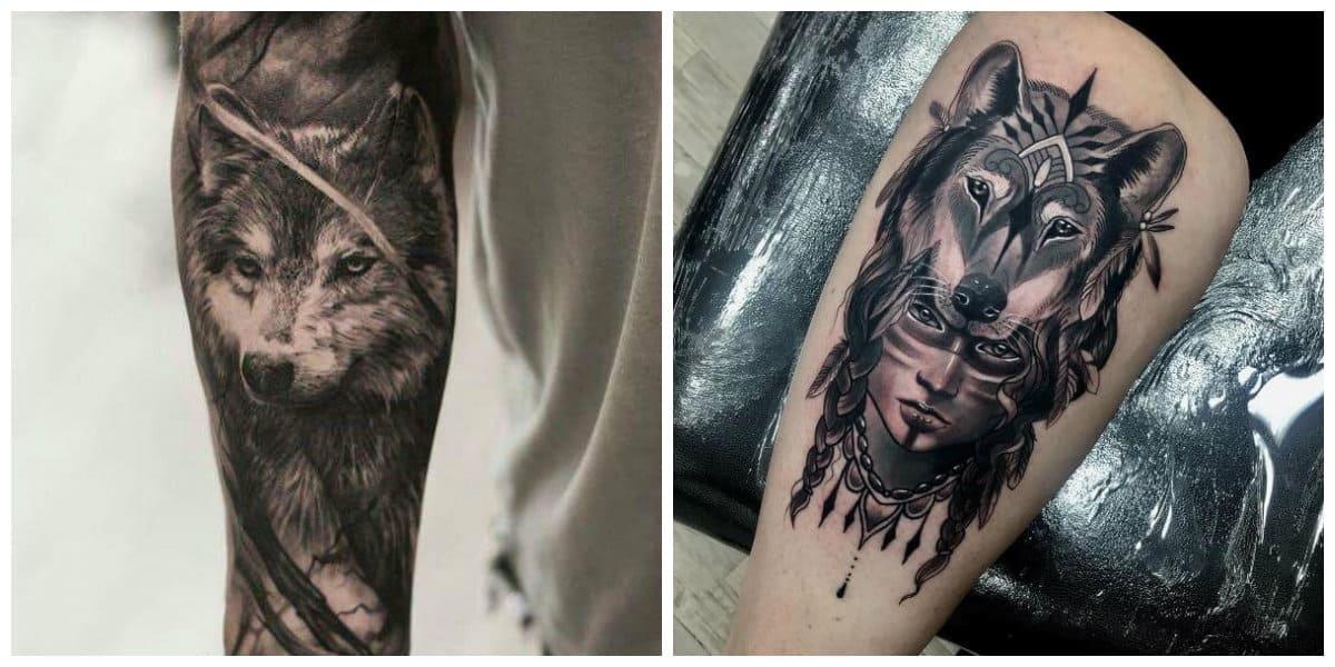 Tatuajes de lobos- imagenes para tatuarte en este estilo moderno