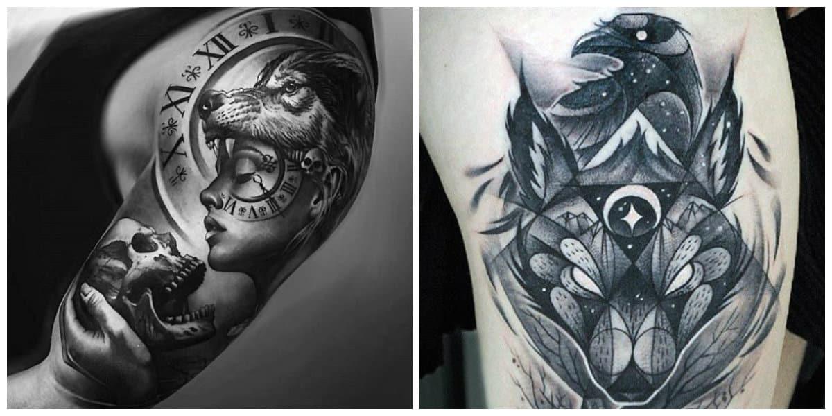 Tatuajes de lobos- es una tendencias muy popular entre los hombres