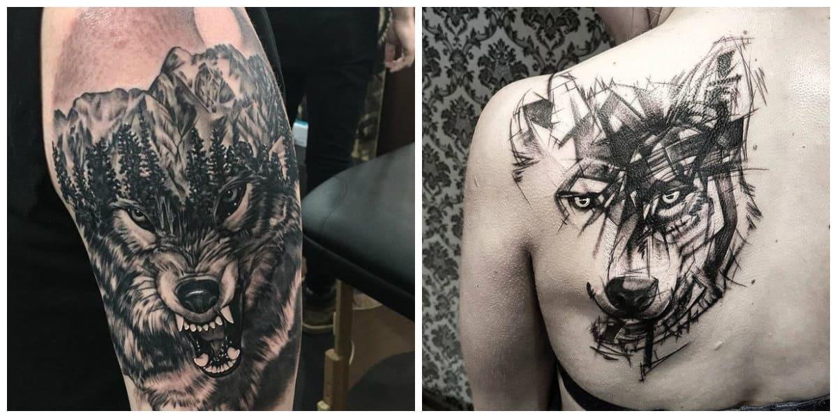 Tatuajes de lobos- tendencias moderns de la moda masculina