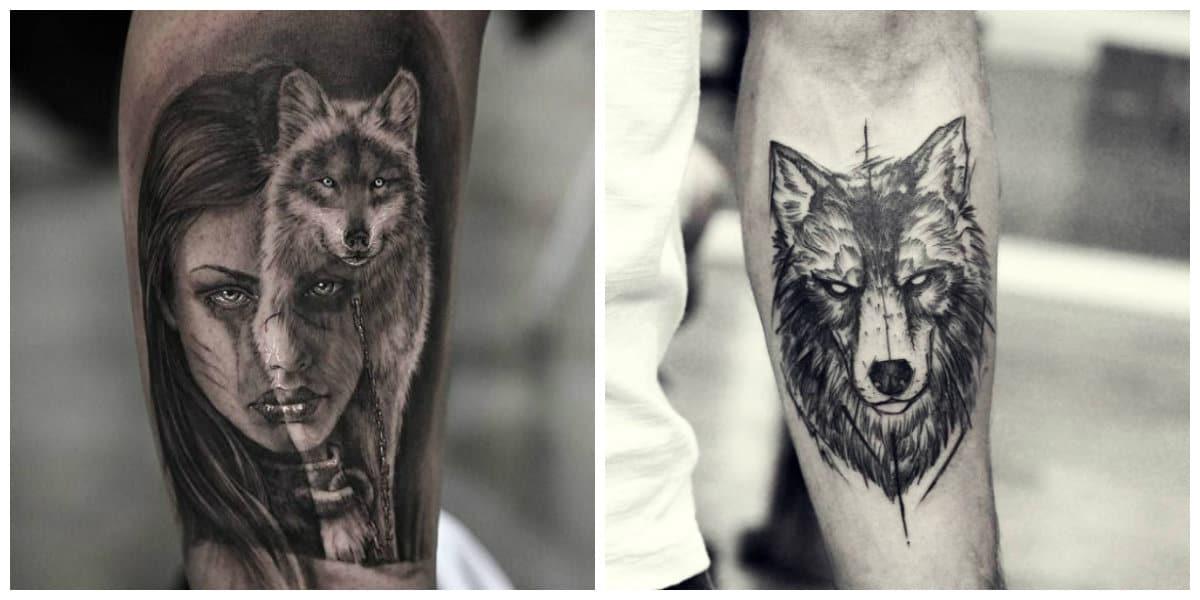 Tatuajes de lobos- modernos tatuajes de animales en corrientes de moda