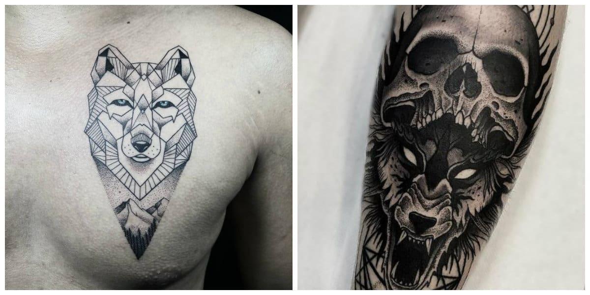 Tatuajes de lobos- las mujeres tambien usan imagenes de lobo moderno