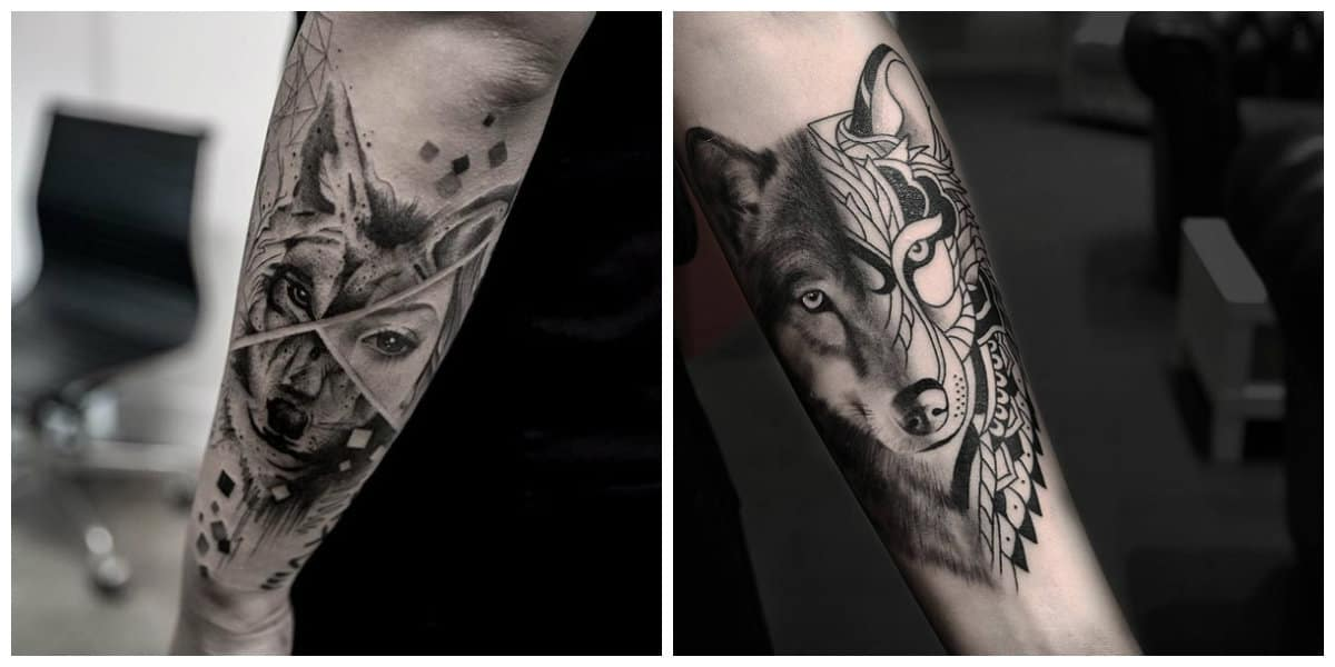 Tatuajes de lobos- un animal que esta muy popular entre los estilos modernos