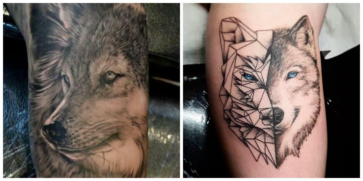 Tatuajes de lobos en el hombro- el lugar mas apropiado
