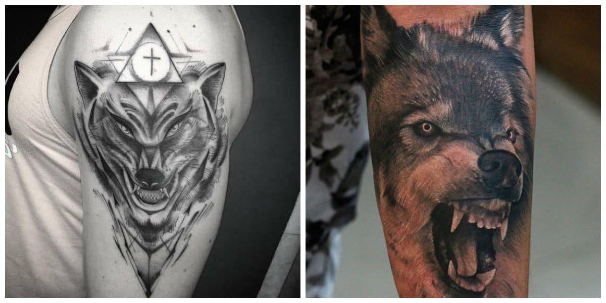 Tatuajes de lobos en el hombro- llega desde los antiguos romanos
