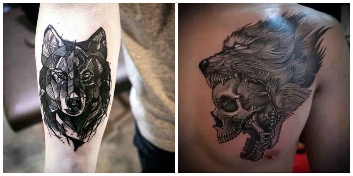 Tatuajes de lobos en el hombro- es tambien simbolo de luna y muerte