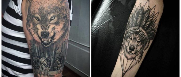 Tatuajes de lobos en el hombro- se cava en el brazo y en el hombro