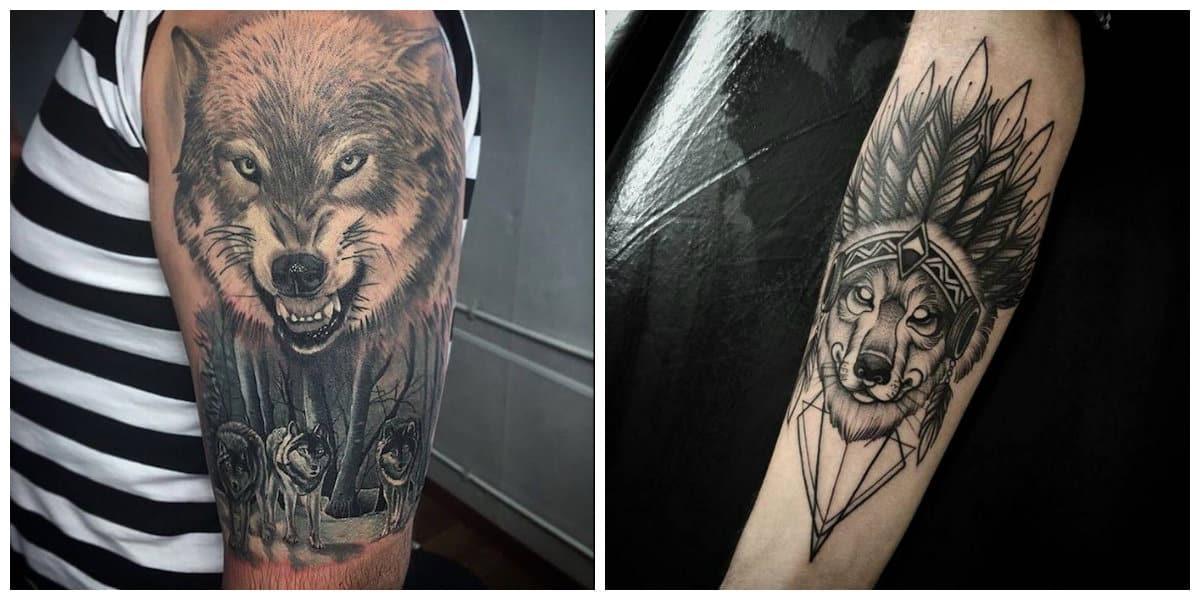 Tatuaje En El Brazo Esqueleto Humano En Piel De Lobo Tattooimagesbiz