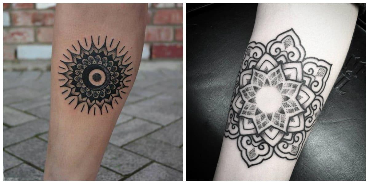 Tatuajes de mandalas- en hinduismo y en budismo esta muy divulgado