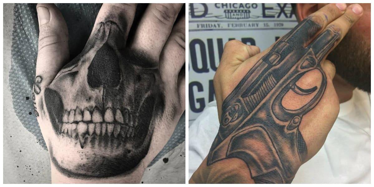 Tatuajes de mano- esta muy popular principalmente entre los hombres