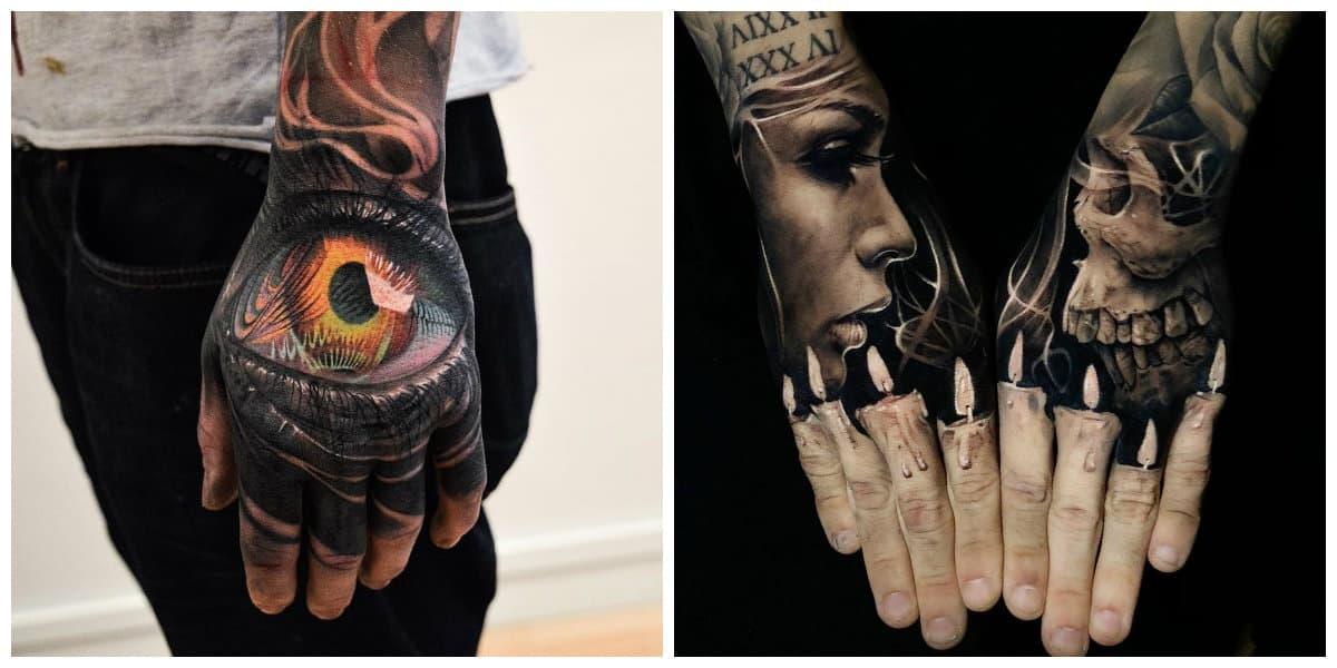 Tatuajes de mano- algunas de las imagenes populares de moda