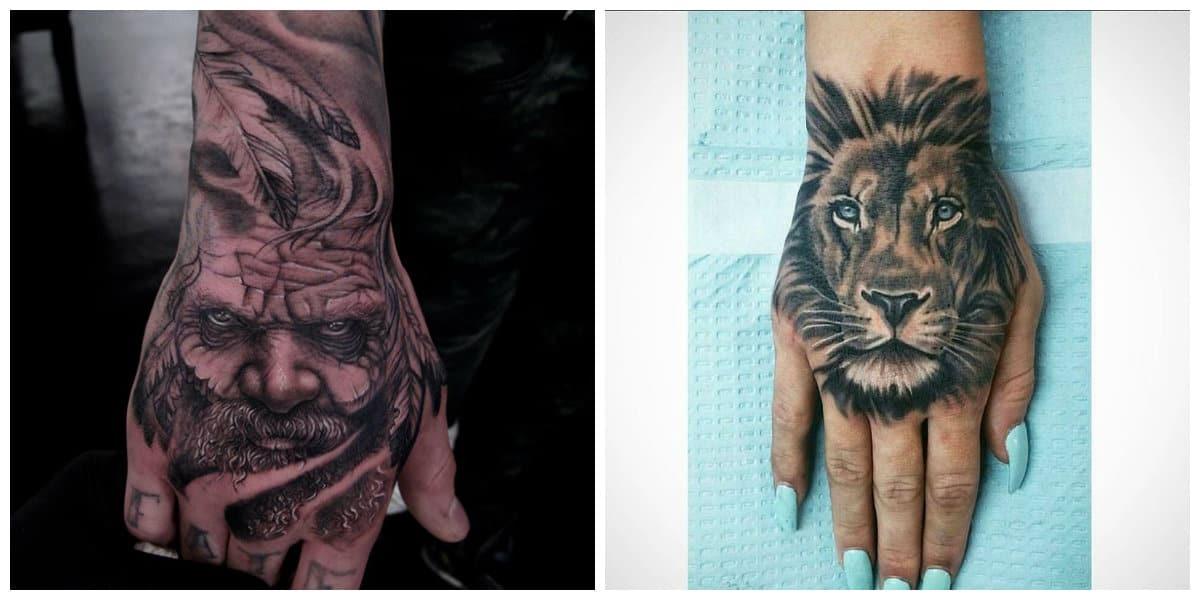 Tatuajes de mano- animales siempre estan en tendenica