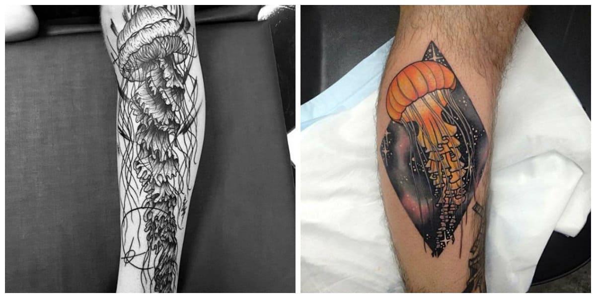 Tatuajes de medusa- esta muy popular entre hombres y mujeres